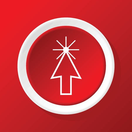 cursor: Arrow cursor icon on red