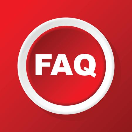faq icon: FAQ icono en rojo Vectores