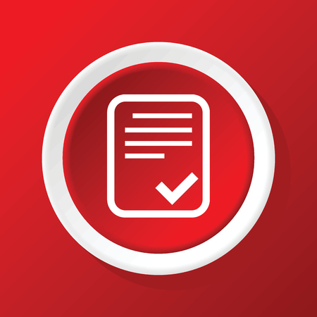 accepted: Accepted document icon on red