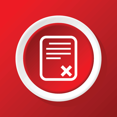 rejected: Rejected odcument icon on red