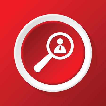 Detalles del usuario icono en rojo Ilustración de vector