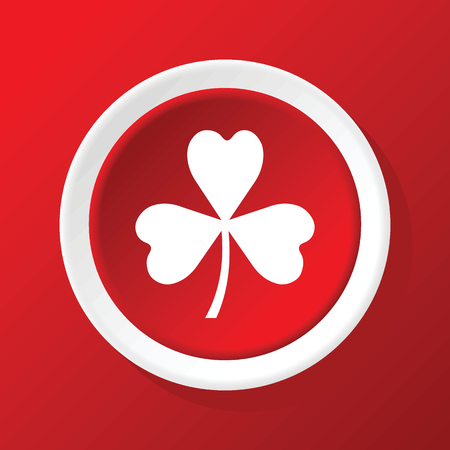 clover icon: Clover icon on red