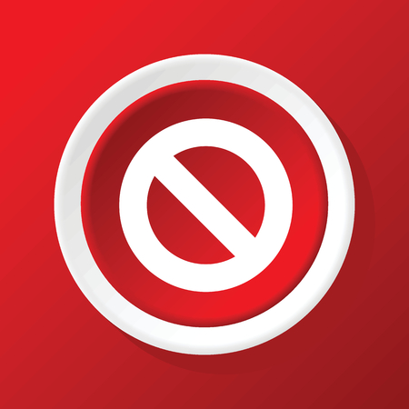 NO sign icon on red Vector