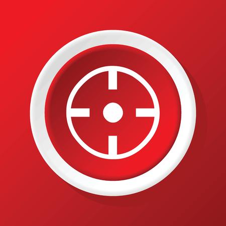 ziel icon: Zielsymbol auf Rot