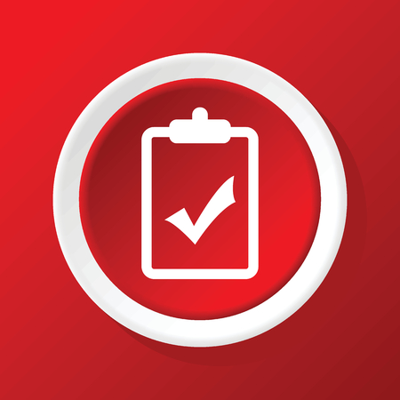 decision: Positive decision icon on red