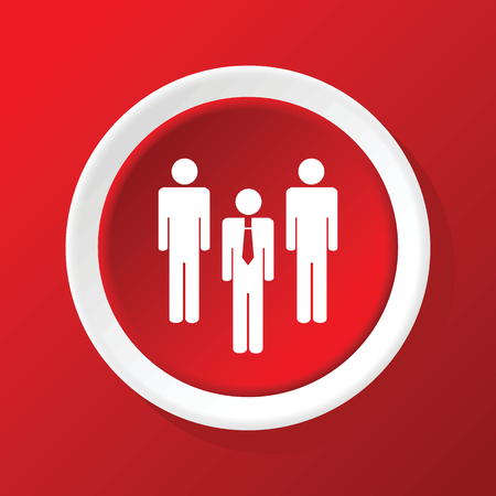 workgroup: Workgroup icon on red Illustration