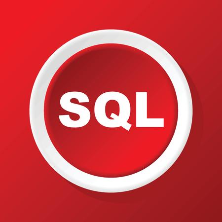 sql: SQL icon on red Illustration