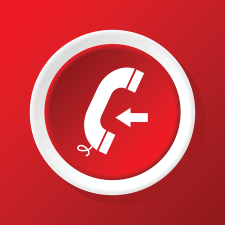 incoming: Incoming call icon on red Illustration