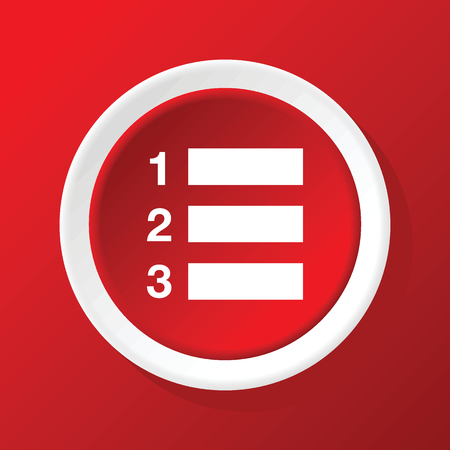 enumerated: Numbered list icon on red
