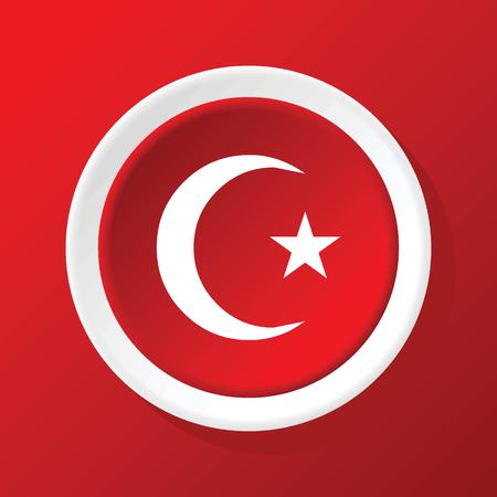 star and crescent: Icono de la estrella de la Media Luna en rojo Vectores