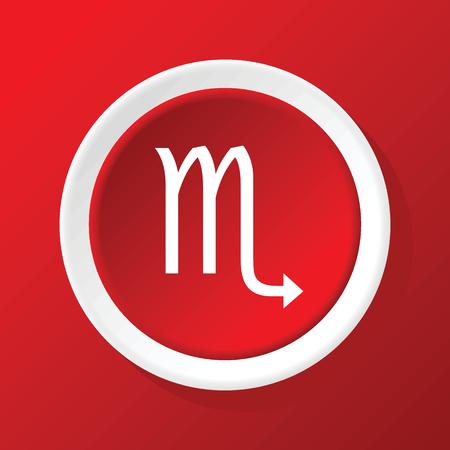 escorpio: Escorpio icono en rojo Vectores
