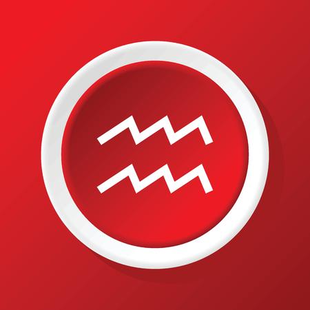water bearer: Aquarius icon on red