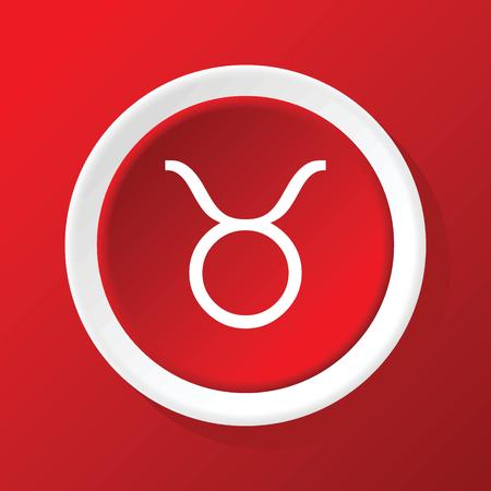 ecliptic: Taurus icon on red