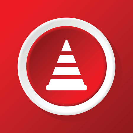 bypass: Traffic cone icon on red