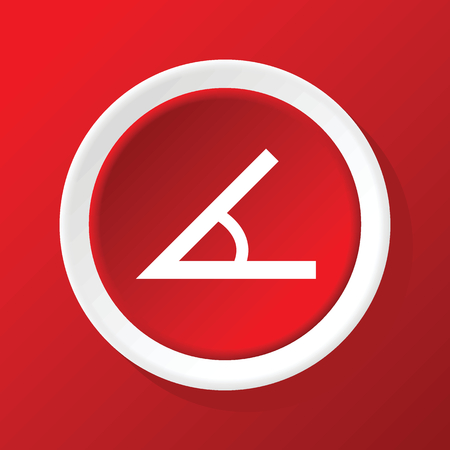 Angle icon on red