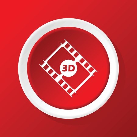 3d: 3D film icon on red