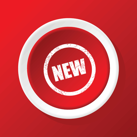 newness: NEW icon on red Illustration