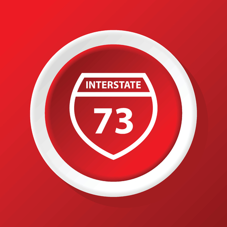 interstate: Interstate 73 icon on red