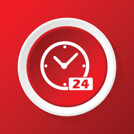timepiece: 24 workhours icon on red