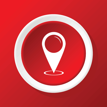 red  pointer: Area pointer icon on red
