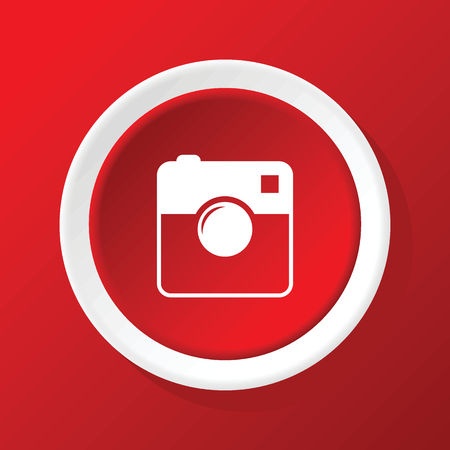 microblog: Square camera icon on red
