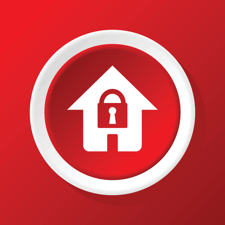 locked: Locked house icon on red