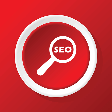 nuance: SEO search icon on red