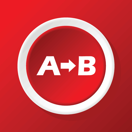 derivation: Formula icon on red