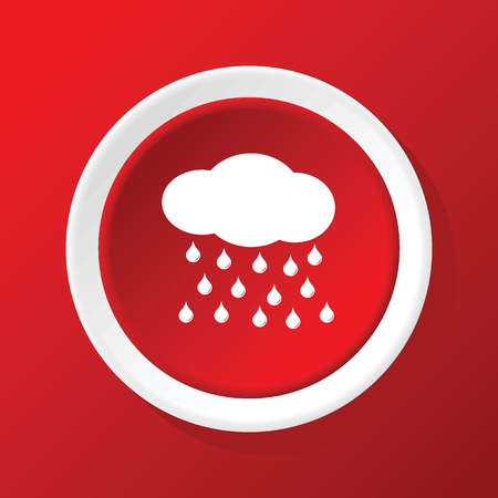 precipitation: Raining icon on red