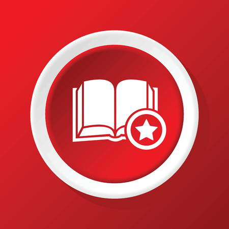 favorite book: Favorite book icon on red