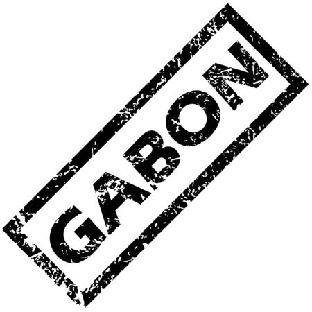 gabon: GABON rubber stamp Illustration