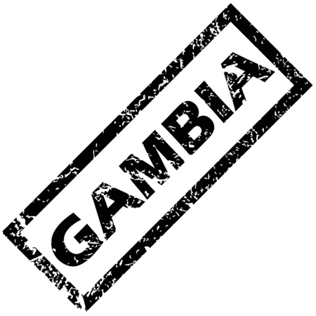 gambia: GAMBIA rubber stamp