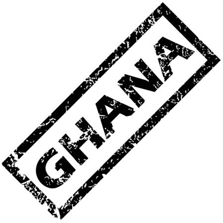 Ghana: GHANA rubber stamp Illustration