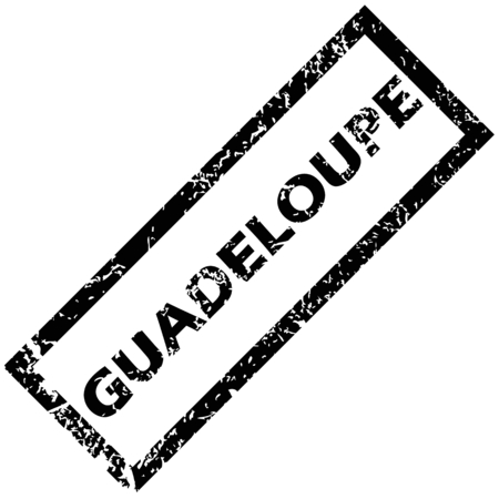 guadeloupe: GUADELOUPE rubber stamp