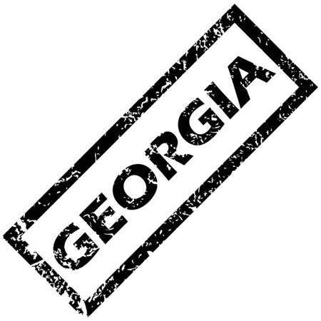 georgia: GEORGIA rubber stamp