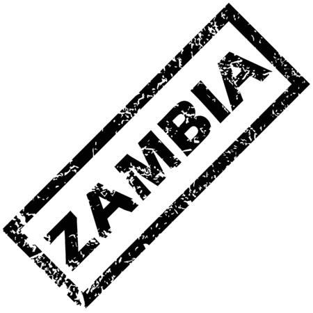 zambia: ZAMBIA rubber stamp