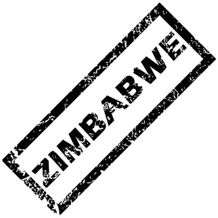zimbabue: ZIMBABWE sello de goma Vectores