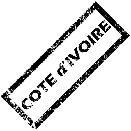 cote d ivoire: COTE D IVOIRE rubber stamp