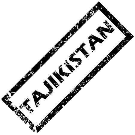 tajikistan: TAJIKISTAN stamp Illustration