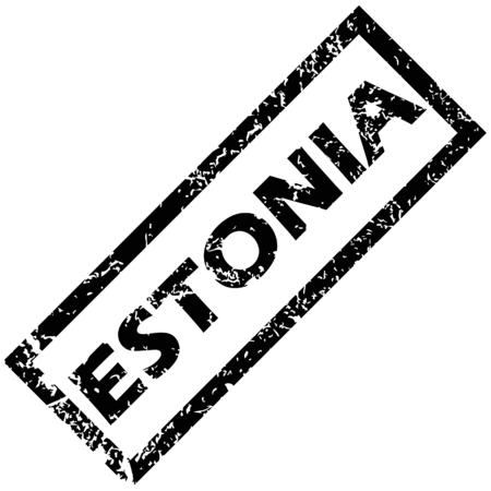 estonia: ESTONIA stamp Illustration