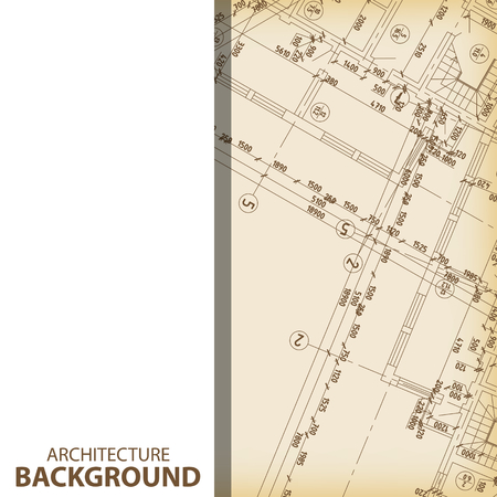 draught: Architecture blueprint fragment background Illustration