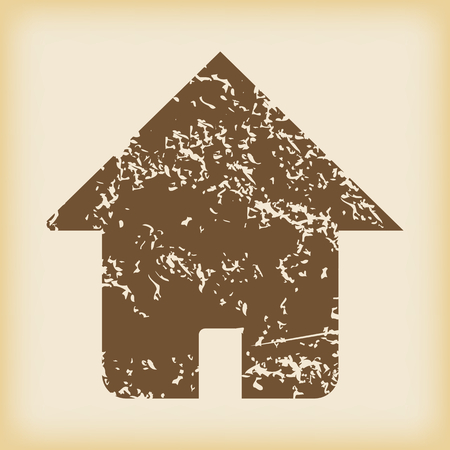 grungy: Grungy house icon Illustration