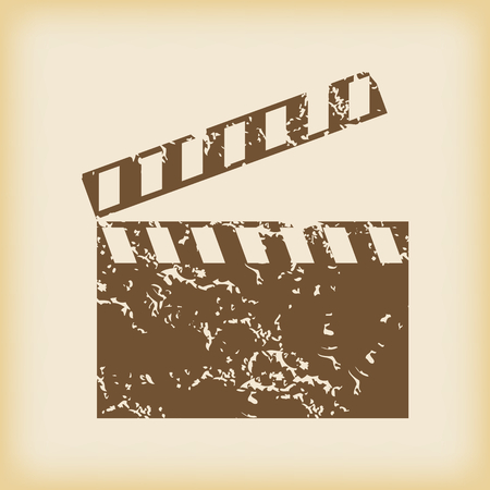 clapperboard: Grungy clapperboard icon