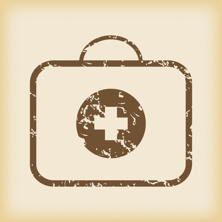 firstaid: Grungy first-aid kit icon Illustration