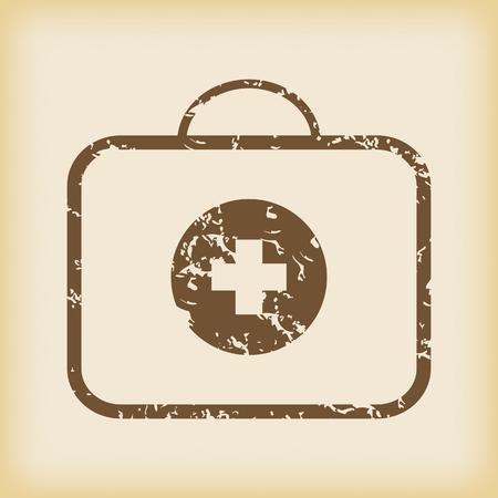 firstaid: Sucio del icono de botiqu�n de primeros auxilios Vectores