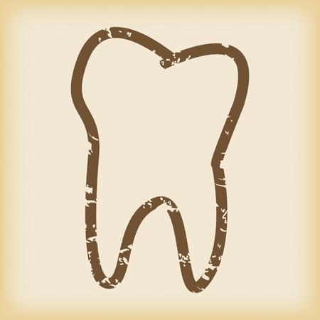 dientes sucios: Icono de diente sucio Vectores