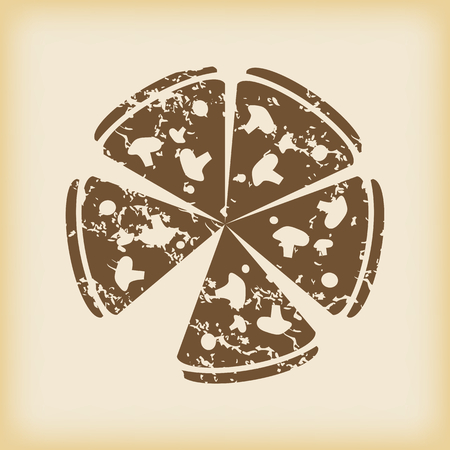 grungy: Grungy pizza icon