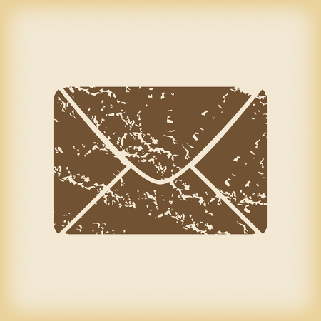 grungy email: Grungy letter icon