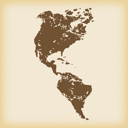 the continents: Grungy american continents icon