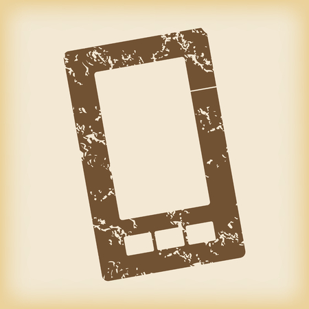 grungy: Grungy smartphone icon
